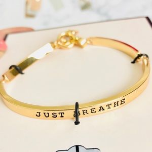 NWT BCBGeneration Gold Just Breathe Bracelet